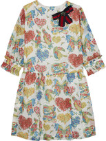 Gucci Flower print cotton dress 4-12 years
