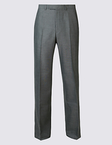 M&S Collection Grey Regular Fit Trousers