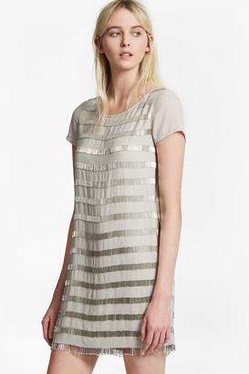 French Connection Della Fringe Embellished Tunic Dress
