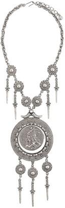 Susan Caplan Vintage Trifari statement drop pendant necklace