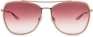 Barton Perreira Severine Sunglasses in Rose Gold & Mulberry Gradient   FWRD