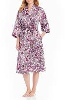 Cabernet Floral Satin Robe