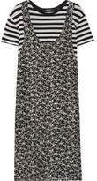 R 13 Tank Overlay Printed Silk And Cotton Dress