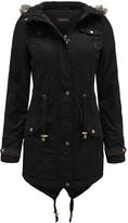 Thumbnail for your product : Brave Soul Allure Ladies Faux Fur Parka Coat - Black -Large