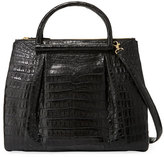 Nancy Gonzalez Large Crocodile Plisse Tote Bag