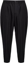 Marni Tapered wool-piqué trousers