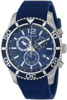 Nautica Men's N15103G NST 09 Stainless Steel Watch with Silicone Band