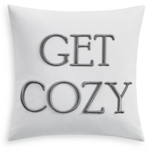 """Charter Club Damask Designs Word Embroidered 16"""" Square Decorative Pillow, Created for Macy's Bedding"""