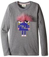 Fendi Long Sleeve T-Shirt w/ Logo Monster Graphic Girl's T Shirt