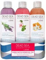 Ahava Dead Sea Essentials by Spa Bubble Bath & Shower Gel Trio Gift Set