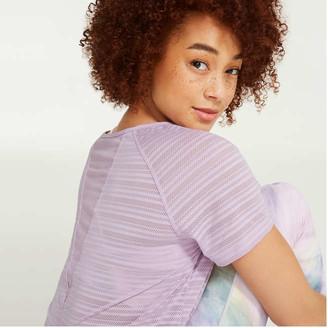 Joe Fresh Women's Mesh Insert Tee, Lavender (Size XL)