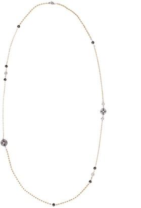 Mariani 18kt Yellow Gold Diamond Bead Necklace