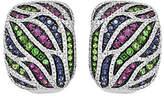 QVC 14K 1.00 cttw Diamond & 1.85 cttw Gemstone Earrings