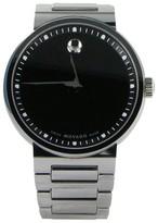 Movado Dura 0606433 Tungsten Carbide Black Dial Mens Watch
