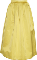Rochas Duchess-satin midi skirt