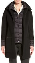Soia & Kyo Women's 'Lettie' Quilt Detail Wool Blend Coat