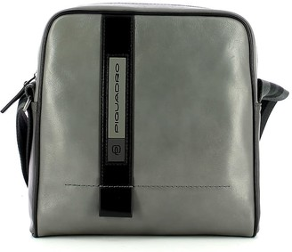 Piquadro Mens Gray Crossbody Bag