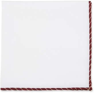 Brunello Cucinelli Pinstripe-Trim Cotton Pocket Square