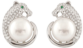 Bella Pearl Freshwater Pearl & Cubic Zirconia Jaguar Stud Earrings