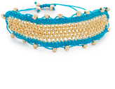 Sam Edelman Chain Mail Macrame Bracelet