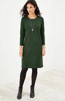 J. Jill Ponte Knit Seamed Dress