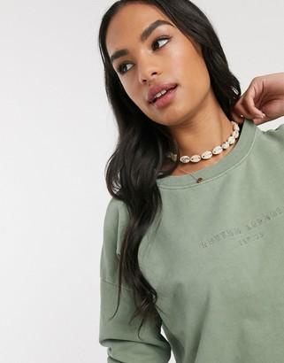 rhythm San Fran sweatshirt in washed green