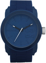 Diesel Men's Double Down Blue Silicone Strap Watch 46mm DZ1533