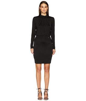 Versace Long Sleeve Cinched Waist Dress
