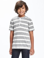 Old Navy Striped-Pique Henley for Boys