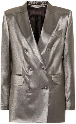 Max Mara Nadia metallic stretch silk blazer
