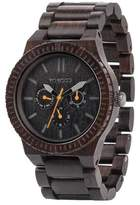 WeWood Men's Kappa Black-Orange Wooden Watch