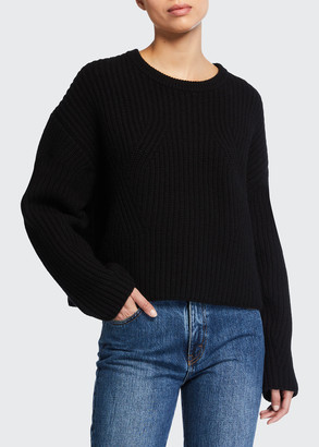 Co Crewneck Long-Sleeve Wool-Cashmere Sweater