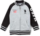 U.S. Polo Assn. Light Heather Gray Varsity Jacket - Toddler & Boys