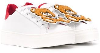 MOSCHINO BAMBINO Teddy Bear low-top sneakers