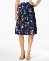 Charter Club Petite Floral-Print A-Line Skirt, Created for Macy's