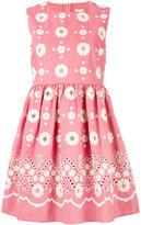 RED Valentino embroidered flower dress - women - Cotton - 38