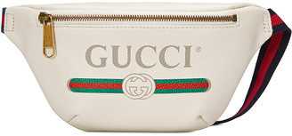 Gucci Print Small Belt Bag In White & Green & Red in White & Green & Red | FWRD