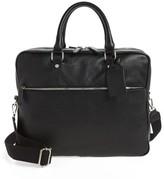 Eleventy Men's Leather Laptop Bag - Black