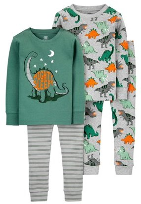 Child of Mine by Carter's Baby Boys & Toddler Boys Snug Fit Cotton Long Sleeve Pajamas, 4-Piece Set (9M-5T)