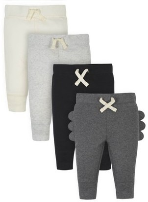 Gerber Baby Boy Organic Pants, 4-Pack