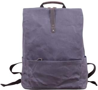 Touri 16'' Waxed Canvas Laptop Backpack In Anchor Grey