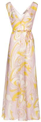Emilio Pucci Printed silk crepe midi dress