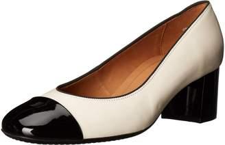 ara Women's Lian Dress Pump Cream/Black 6.5 M US