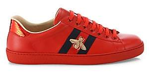 Gucci Men's New Ace Embroidered Sneakers