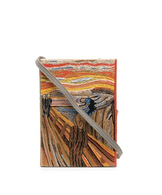 Olympia Le-Tan The Scream book clutch