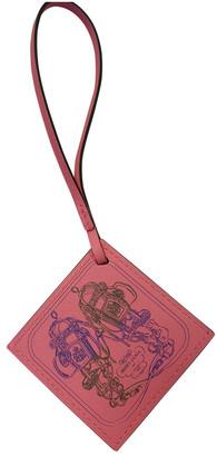 Hermes Carre Nano Charm Pink Leather Bag charms