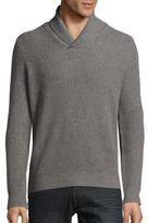 Saks Fifth Avenue BLACK Rib-Knit Cashmere Sweater
