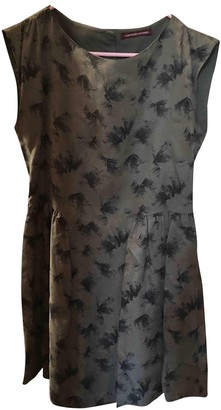 Comptoir des Cotonniers Green Cotton Dress for Women