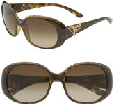 Triangle Logo Oval Frame Sunglasses