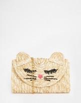 Asos Straw Cat Clutch Bag